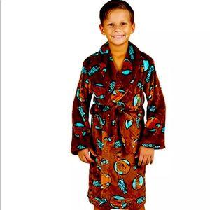 Scooby Doo Boys Brown Fleece Robe
